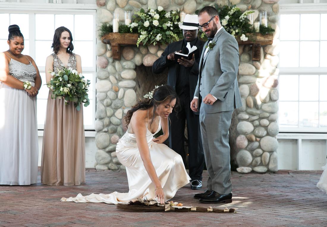 Lauren's wedding day at Mallard Island in Long Beach Island NJ