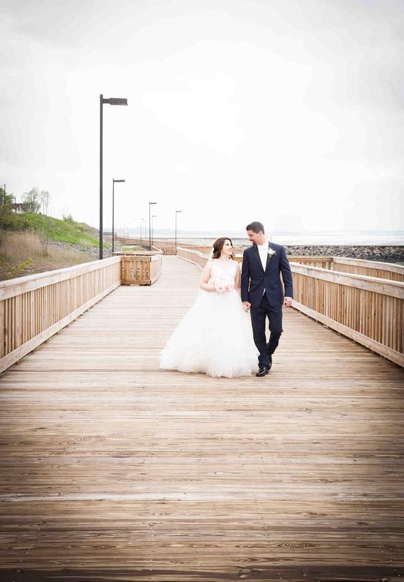 Boardwalk Wedding Portraits by the beach
